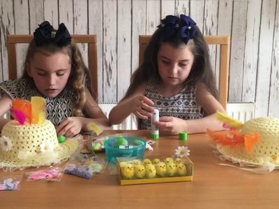 DIY - KIDS DECORATING EASTER HATS