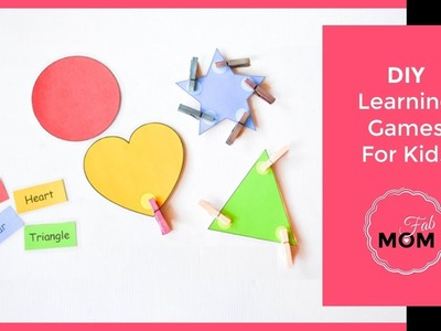 DIY learning games for toddler and kids
