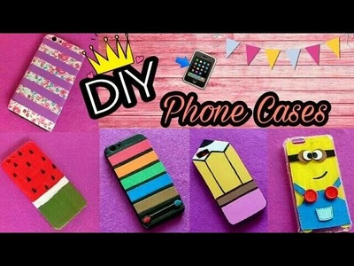 DIY Phone Cases ||Quick,easy and cute Phone Cases||Do It Yourself||