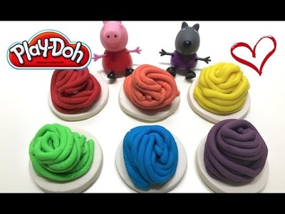 DIY Play-Doh Learn Make Rainbow Noodle Pasta Spaghetti Palm Toy Soda