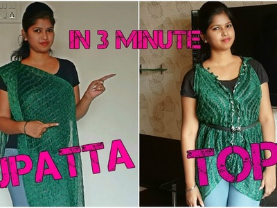 DIY: Recycle Old Dupatta into top (no sew).Namrata singh