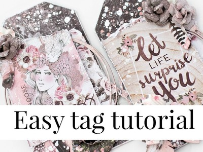 Easy mixed media tag tutorial for beginners