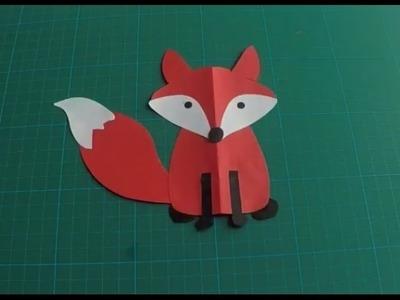 How to make a paper fox (Diy-Handmade)