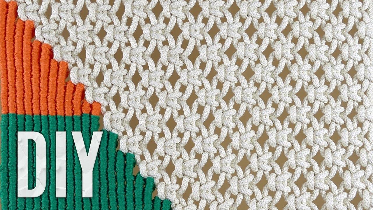 Macram 233 Wall Hanging Tapestry Tutorial By Macrame School