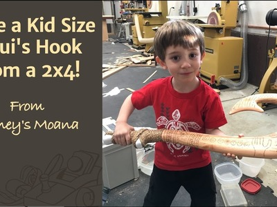 Make a Kid Size Maui's Hook From a 2x4 (Tutorial) - Disney's Moana