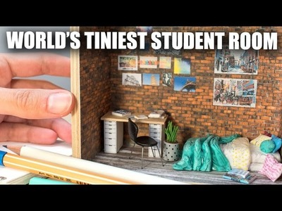 Miniature Student Room.Dorm Sculpture. How To Tutorial w. Graphicstock