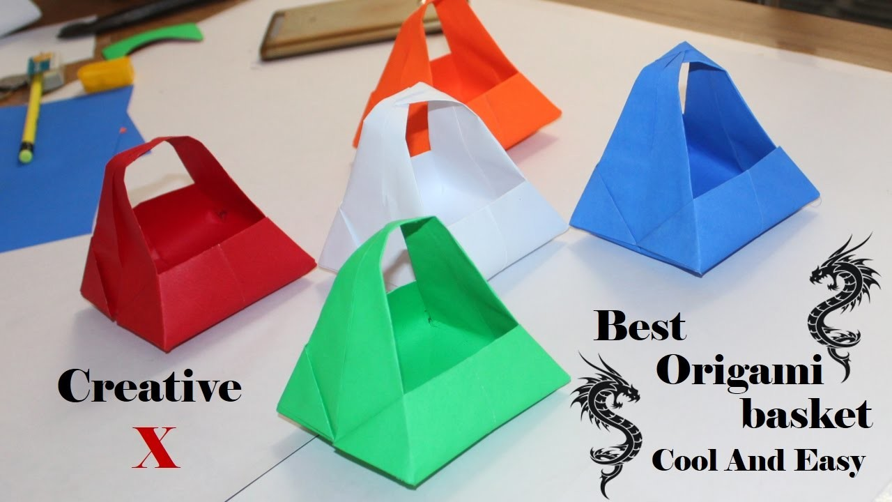 Origami paper basket how to make easy paper basket for for How to make easy gifts