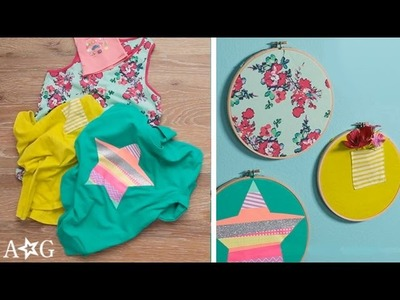 T-Shirt Wall Art DIY - Earth Day Recycle! | OMaG | American Girl