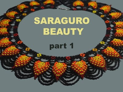 Tutorial for the SARAGURO BEAUTY Necklace. Part 1 in English!!!