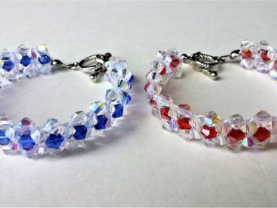 Tutorial on Making a Stunning Beaded Bracelet with  Bicone Beads