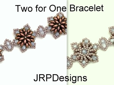 Two For One Bracelet- Intermediate to advanced tutorial  left hand