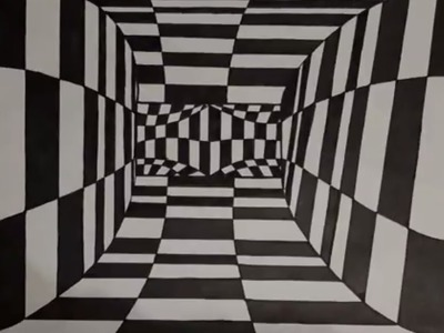 3D Art. drawing a tunnel. Tunnel in 3d zeichnen. dibujar un tunel en 3d
