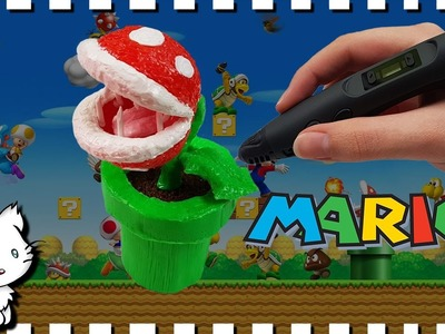 3D Pen Art Creation ♥ Making Mario's Piranha Plant ♥