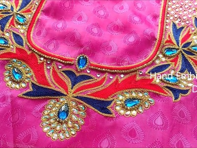 Bridal maggam works, embroidery stitches by hand for beginners | hand embroidery designs