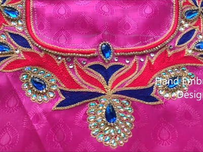 Bridal maggam works, hand embroidery stitches tutorial | hand embroidery designs