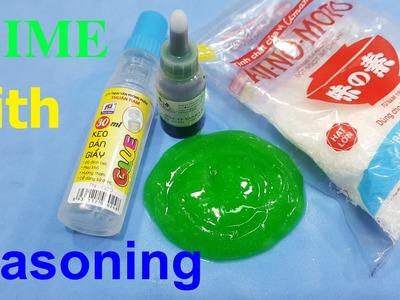 DIY SLIME Seasoning ! How to make slime soft with food seasoning
