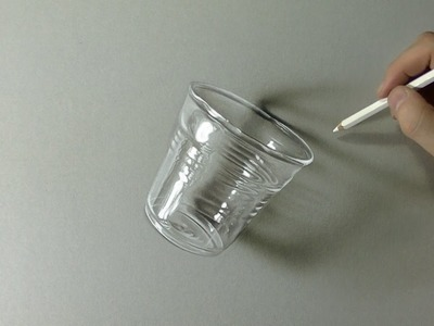 Glass or plastic? Drawing of a coffee cup - How to Draw 3D Art
