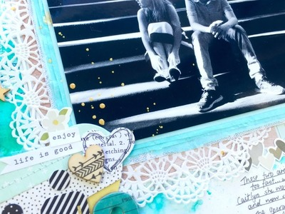 """Grab 5 Scrapbooking Process Video ~ """"Seriously Grown Up"""" + + + INKIE QUILL"""