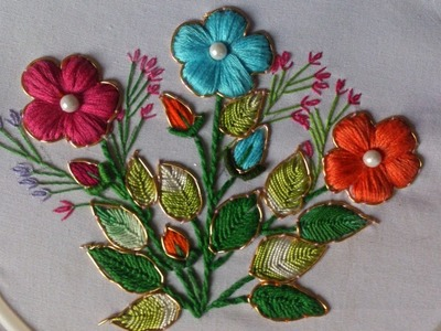 Hand embroidery designs. Fancy embroidery stitches.