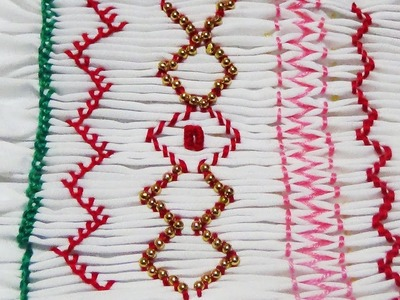 Hand Embroidery: SMOCKING Stitch (Part 2)