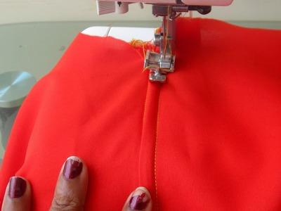 How to Attach | Sew in  Zipper for  Kurti | Kameez | Dress -DIY || AWW # 276||