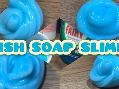 How To Make Dish Soap Slime with glue! Slime without shaving cream, borax, baking soda, detergent