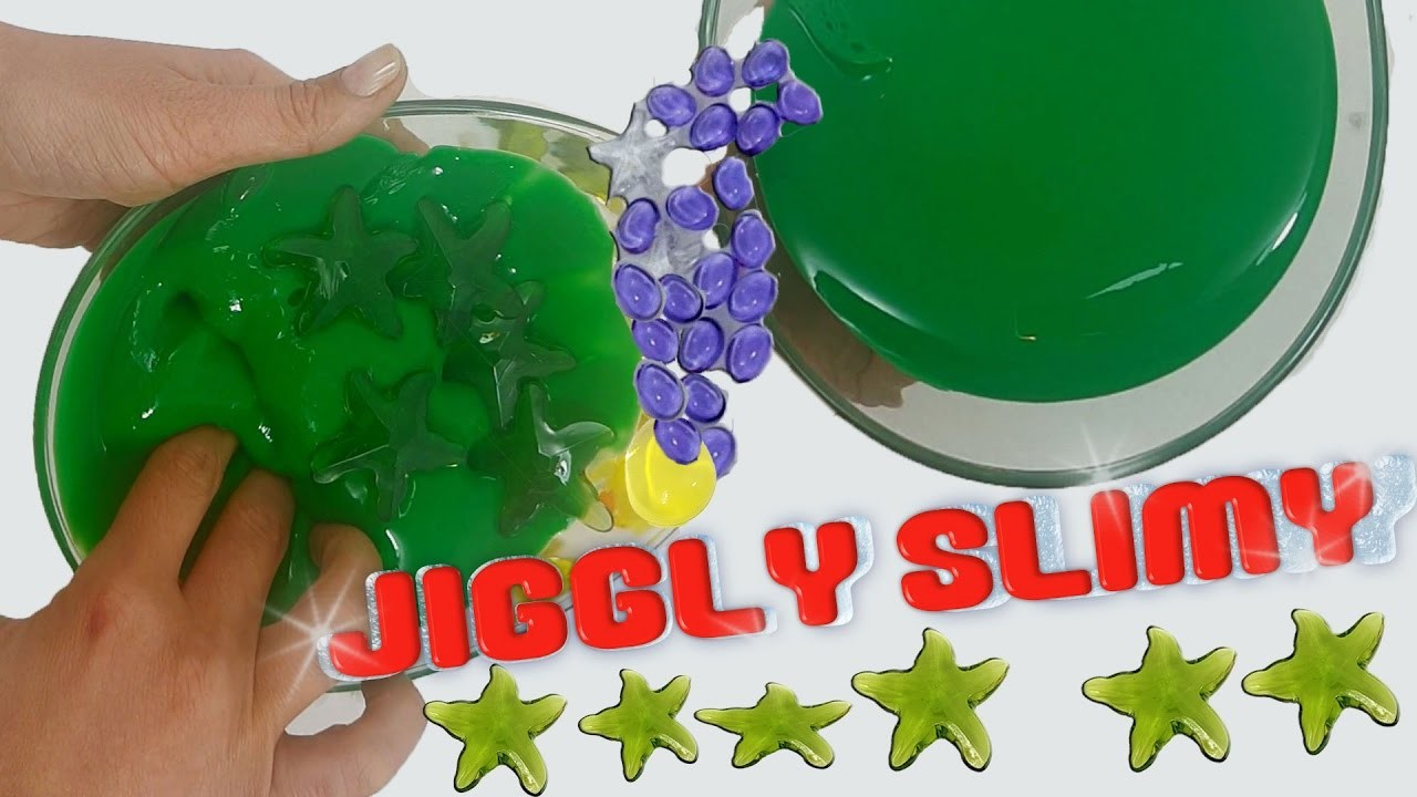 How to make jiggly slime | green