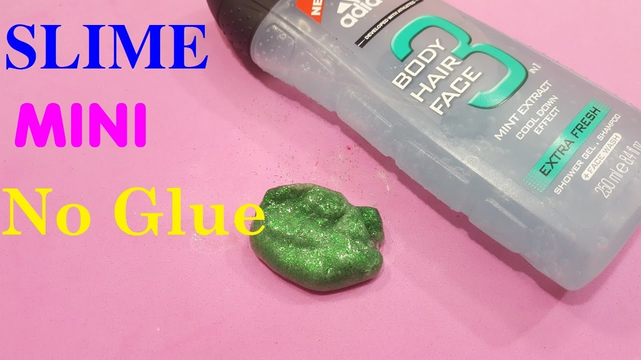How to make slime mini without glue