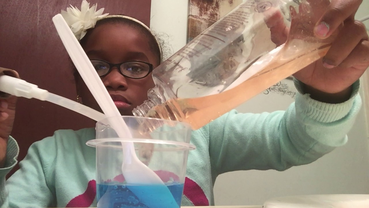 How to make slime with shower gel and Handsoap