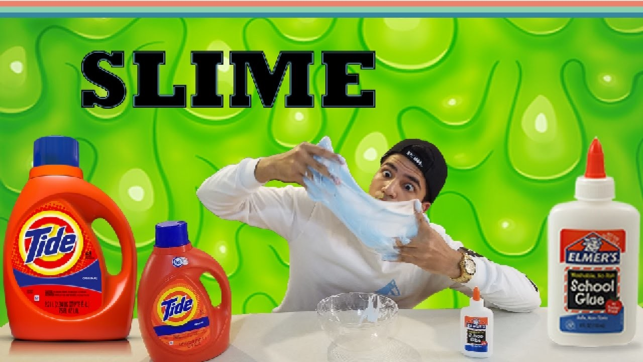 How To Make SLIME With TIDE And GLUE!! (FAST. EASY DIY)