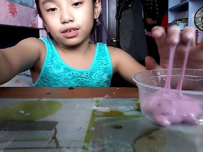 How to make slime without borax,detergent,eyedrops ❤????????????