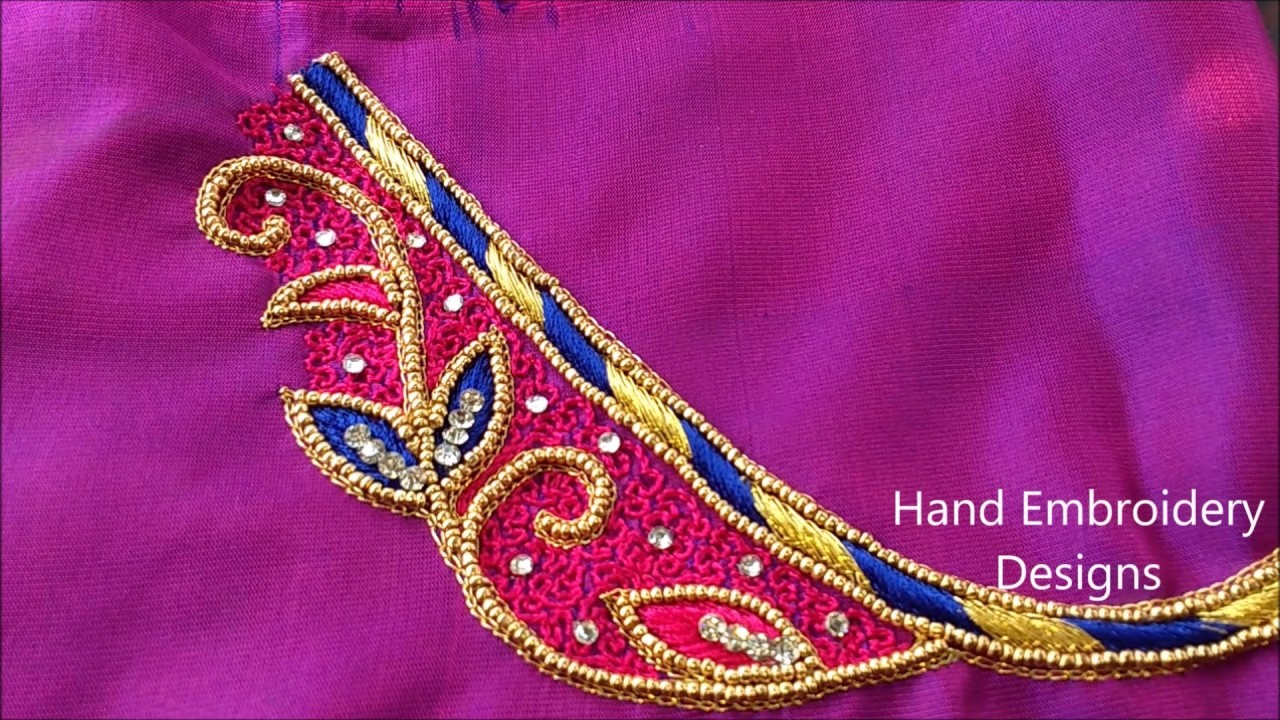 Maggam work tutorial for beginners hand embroidery