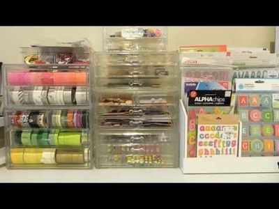 Organizando Material de Scrapbooking- Embellecedores