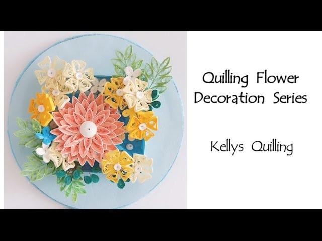 paper quilling flower decoration learning video 3 paper quilling art paper flower