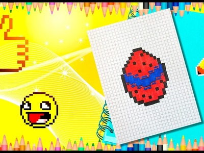 PIXEL ART! HANDMADE PIXEL EGG FOR LADYBUG FROM MIRACULOUS.  РИСУЕМ ПО КЛЕТОЧКАМ