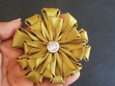 Ribbon Flower Stitch|Hand work