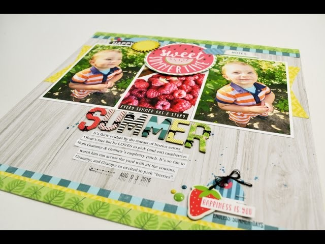 "Scrapbooking Process Video ""Summer"" by Becki Adams"