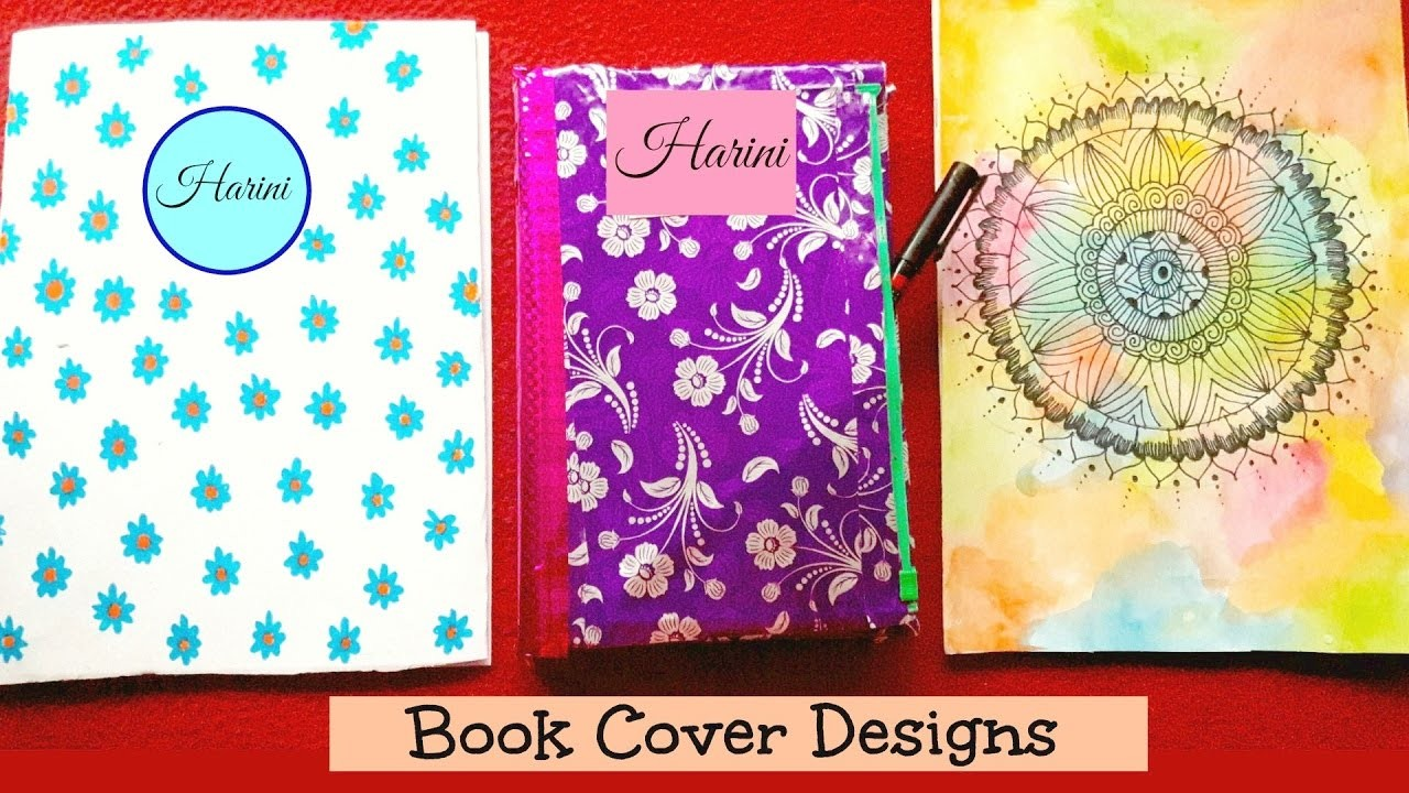 Book Cover Craft Ideas ~ Diy notebook cover design ideas backtoschool supplies