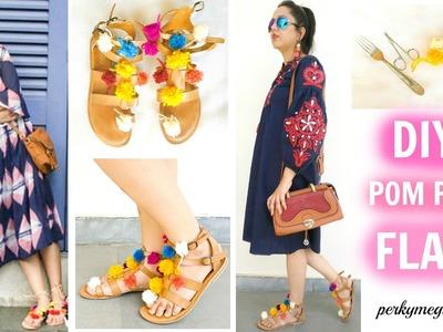 Alia Bhatt Inspired DIY Pom Pom Flats | Perkymegs