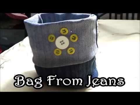 Bag From Jeans | DIY Recycled Jeans | DIY  Craft