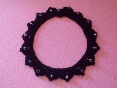 Collarino Uncinetto - Choker Crochet Tutorial- Gargantilla Crochet