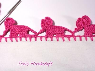 Crochet trimmings  baby elephant