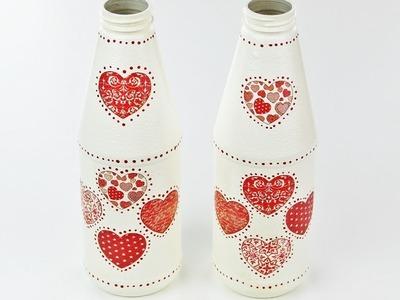 Decoupage Plastic Bottles - Fast & Easy Tutorial - DIY