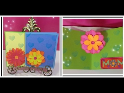 #diy Art and #craft : #howto make #popup #flower #card. father's day card
