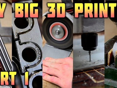 DIY Big 3D Printer - Parts Making - Part 1.3