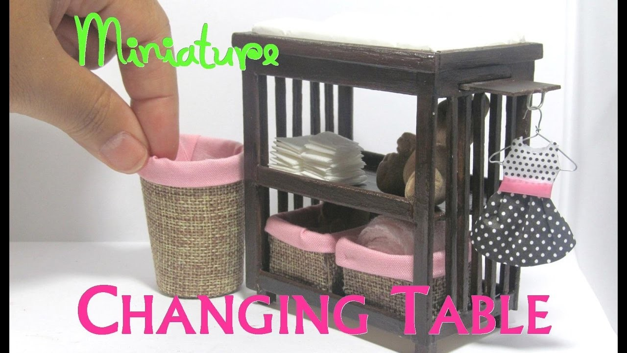 Diy Changing Table And Baskets Dollhouse Furniture