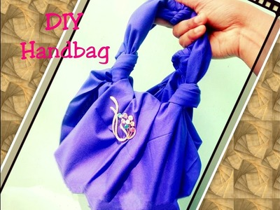 DIY Craft : How to make no sew mini hand bag in 2 minutes at home