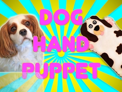 DIY Crafts: How to make a DOG HAND PUPPET for Kids - SOUND EFFECTS -