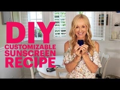 DIY Customizable Sunscreen Recipe | Natural SPF 25 Moisturizer Base You Can Personalize