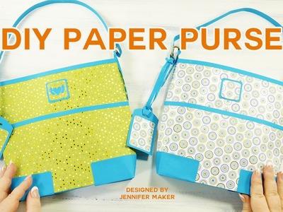 DIY Designer Paper Purse Tutorial (Great Gift Bag!)